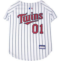 Minnesota Twins MLB Pets First Licensed Dog Jersey, Prinstripes Sizes XS-XXL