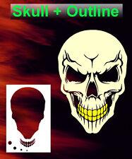 Skull 24 Airbrush Stencil Spray Vision Template air brush
