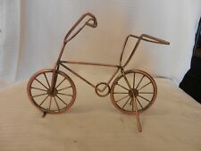 Hand Made Copper Bicycle Single Wine Bottle Holder Freestanding