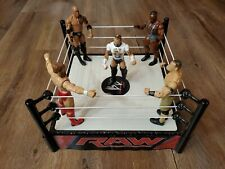 WWE Raw Superstar Ring + 5 Mattel Superstar Figures john cena the rock & More