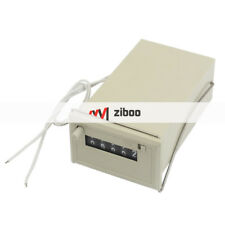 CSK5-NKW AC 110V 5Digits 2White Plastic Wired Electronmagnetic Counter Gray 18cm