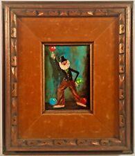 Listed Ashcan Artist Everett Shinn (1876-1953) Signed Oil Painting Circus Clown
