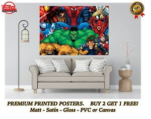 Marvel Comic Hero Collage Large Poster Art Print Gift A0 A1 A2 A3 A4