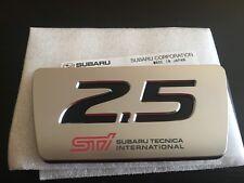 Rare JDM Subaru Forester STI 2.5 Engine Badge Emblem Genuine From Japan