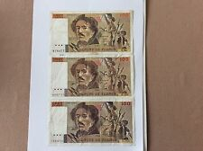 3 Billets français 100 F Delacroix Voir Photo