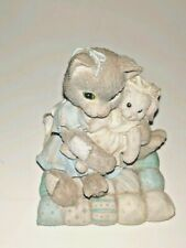 Enesco Calico Kittens You're So Huggable Kitty Cat Kitten And Bunny Figurine