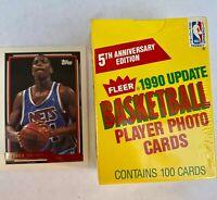 1990-91 Fleer Update 100 Card Factory Sealed Basketball Set Payton,Coleman+bonus