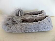 NEW Loft Living Women's Ultra-Soft Memory Foam Slippers Size XL 11-12 Gray