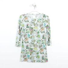 MARC CAIN Shirt Top Longsleeve Kurzarm Flower Geblümt Multicolor Gr. 38 N3