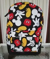 Disney Mickey Mouse Parts Backpack Large School Travel Bag NWT