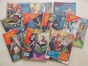 VINTAGE 1950s SEXTON BLAKE LIBRARY - JOB LOT OF 10 ISSUES - DETECTIVE STORIES