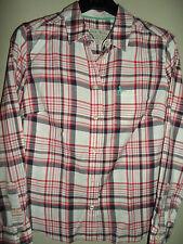JACK Wills Bianco Rosso & Navy Cotone Check camicia taglia 8