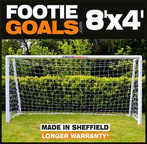 Garden Goalpost 8'x4' Footie Goal for use on Grass.