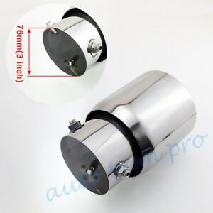 """Universal 3"""" 76mm Inlet Car Accessory Tail Pipe Exhaust Muffler Rear Tip Cover"""