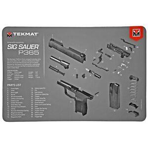 """TekMat, For SIG SAUER P365 365 Pistol Mat,  11""""x17"""", Gray"""
