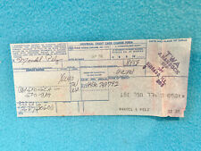 Vintage Universal Credit Card Charge Form - Twa - 1976