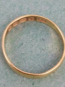 Antique 22 Carat Gold Fully Hallmarked Solid Wedding Ring Size K  1.10g