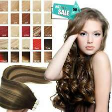 """Luxury 8A 16""""-22"""" Tape in Real Human Hair Extension Big Sale Traceless Curly US"""