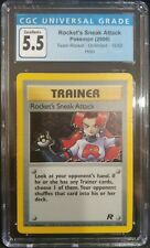 Rocket's Sneak Attack 16/82 Team Rocket Unlimited CGC 5.5 Excellent+ PokemonTCG