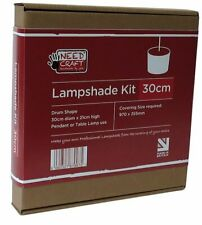 Needcraft Lampshade Kit cover with any fabric or wallpaper 30cm Drum for Pendant