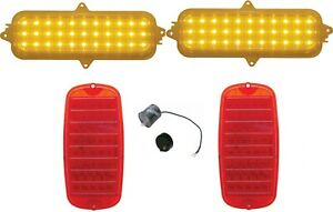 United Pacific LED Tail Lamp and Marker Lamp Set 1960-1966 Chevy Pickup Truck