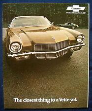 PROSPEKT BROCHURE 1971 CHEVROLET CHEVY CAMARO RS SS z28 (USA)