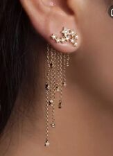 Earring Boho Festival Party Boutique Uk Gold Shooting Star Long Luxury Fashion