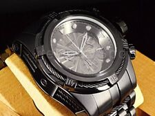 23915 Invicta Bolt Zeus 52MM COMBAT TRIPLE JET BLACK Swiss SS Bracelet Watch New