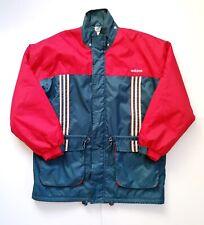 Vintage Retro Adidas Bench Coat Jacket Red Blue Sportswear Winter Size XL-XXL