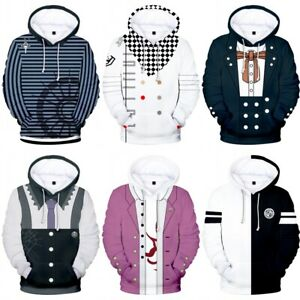 Danganronpa Kokichi Oma Hoodie Sweater Hooded Coat Sweatshirt Cosplay Costume