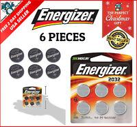 6 Count Energizer3 Volt Watch Batteries Toy Lithium CR2032 Battery Zero Mercury