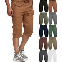 Mens Casual Cargo Combat Long Shorts 3/4 Summer Pocket Cotton Chino Half Pants