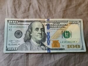 2009 A $100 Hundred Dollar Bill Federal Reserve Star Note S/N LA10166106* RARE!!