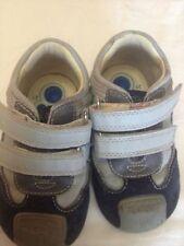 Chicco - scarpe da bambino - colore grigio e blu - N°21 - con velcro USATE