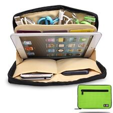 Green Universal Storage Accessories Travel Organiser iPad Air,Tablets,USB,Cables