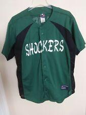 """Vintage """"Shockers"""" # 3 Req League Baseball/Softball Jersey Sewn Logos Men L"""