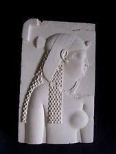 Metropolitan Museum Of Art Plaster Cleopatra Egyptian Queen Plaque.