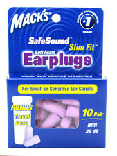SLIM FIT by Mack's Ear Plugs for Sleep - 10 pairs, ear plugs Small, Womans, Kids
