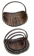 Gift Basket Wood XXL Basket with Handle Fruit Basket Wicker Basket Gift Basket
