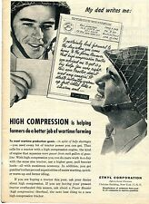 1945 Ethyl Corporation Helping Farmers Do A Better Job of Wartime Farming Ad