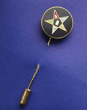 MASONIC ORDER OF THE EASTERN STAR ENAMEL CRESTED STICK PIN WITH FREE UK POSTAGE