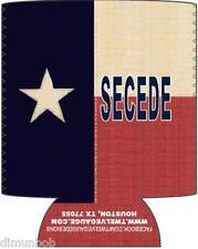 Antiqued Texas Secede  beer can cooler Koozie