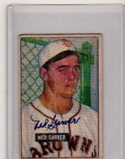 NED GARVER ST LOUIS BROWNS AUTOGRAPHED 1951 BOWMAN  BASEBALL CARD  PSA/DNA