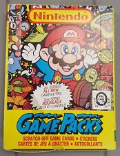 Nintendo 1989 O-Pee-Chee Series 2 Game Packs Sealed Box ** RARE **