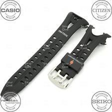 CASIO Genuine Band Pro Trek 10235342 PRG90-1V Black PU Rubber Resin Strap