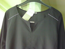 NEU**ORSAY – Shirt, ¾ Arm – Gr. M, 38 mit silber Schmuckelemente Schwarz!