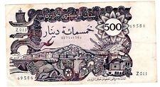 Algeria Algerie Billet 500 DINARS 1970  P129  ALGER  BON ETAT