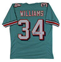 Ricky Williams Authentic Signed Teal Pro Style Jersey Autographed BAS Witnessed