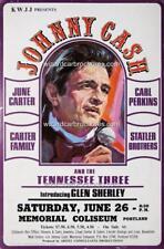 JOHNNY CASH JUNE 26 MEMORIAL COLISEUM PORTLAND A3 CONCERT BILL POSTER PRINT