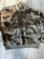 Cabelas Wool Insulated Camo Sweater Jacket Size 2XL Heavy Weight Wooltimate